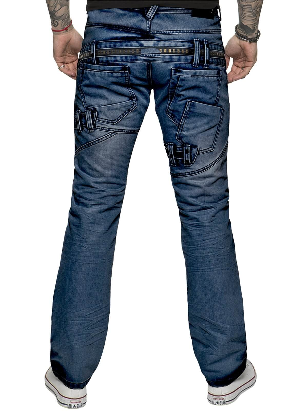 ETO | Mens Designer Funky Blue Denim Jeans