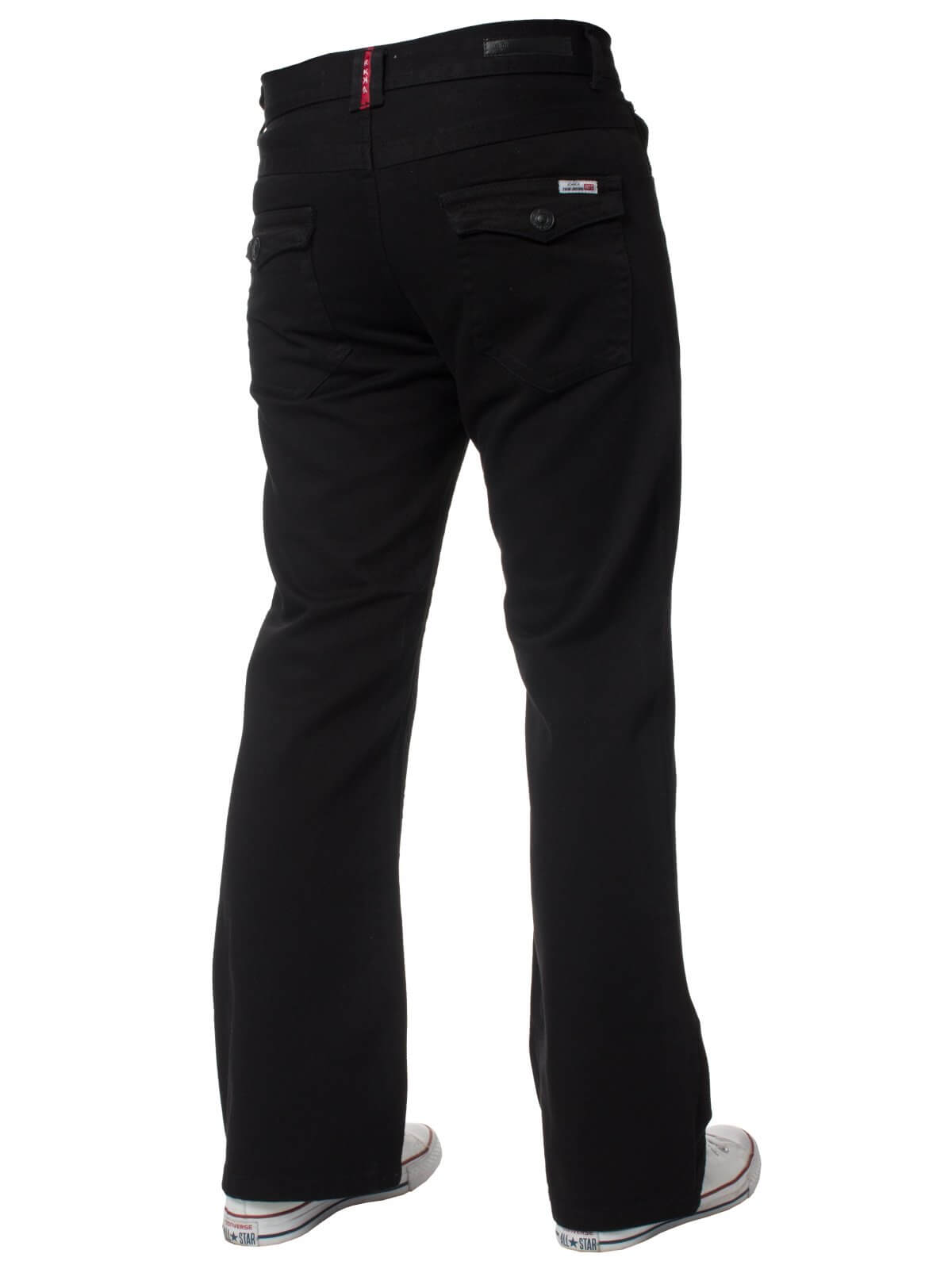 Men's Black Boot Cut Denim Jeans A42 | APT Designer Menswear