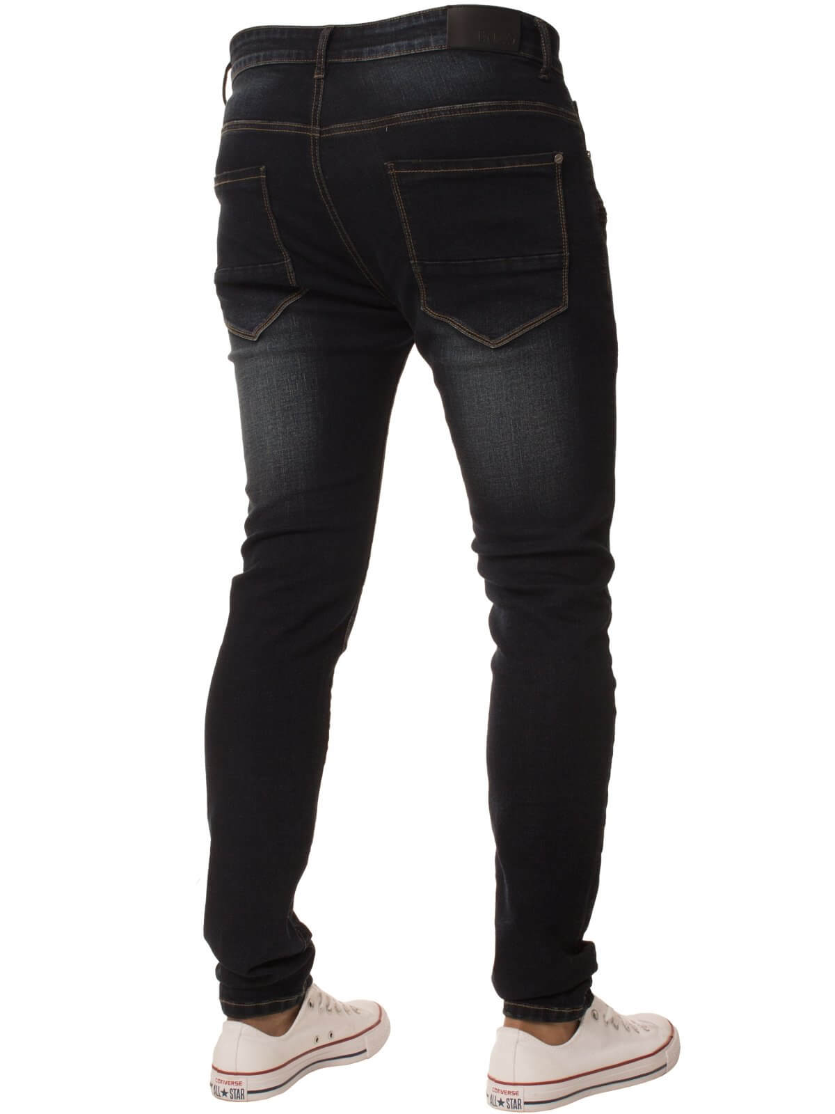 Clearance | Mens Super Skinny Stretch Ripped Denim Jeans | Enzo Designer Menswear