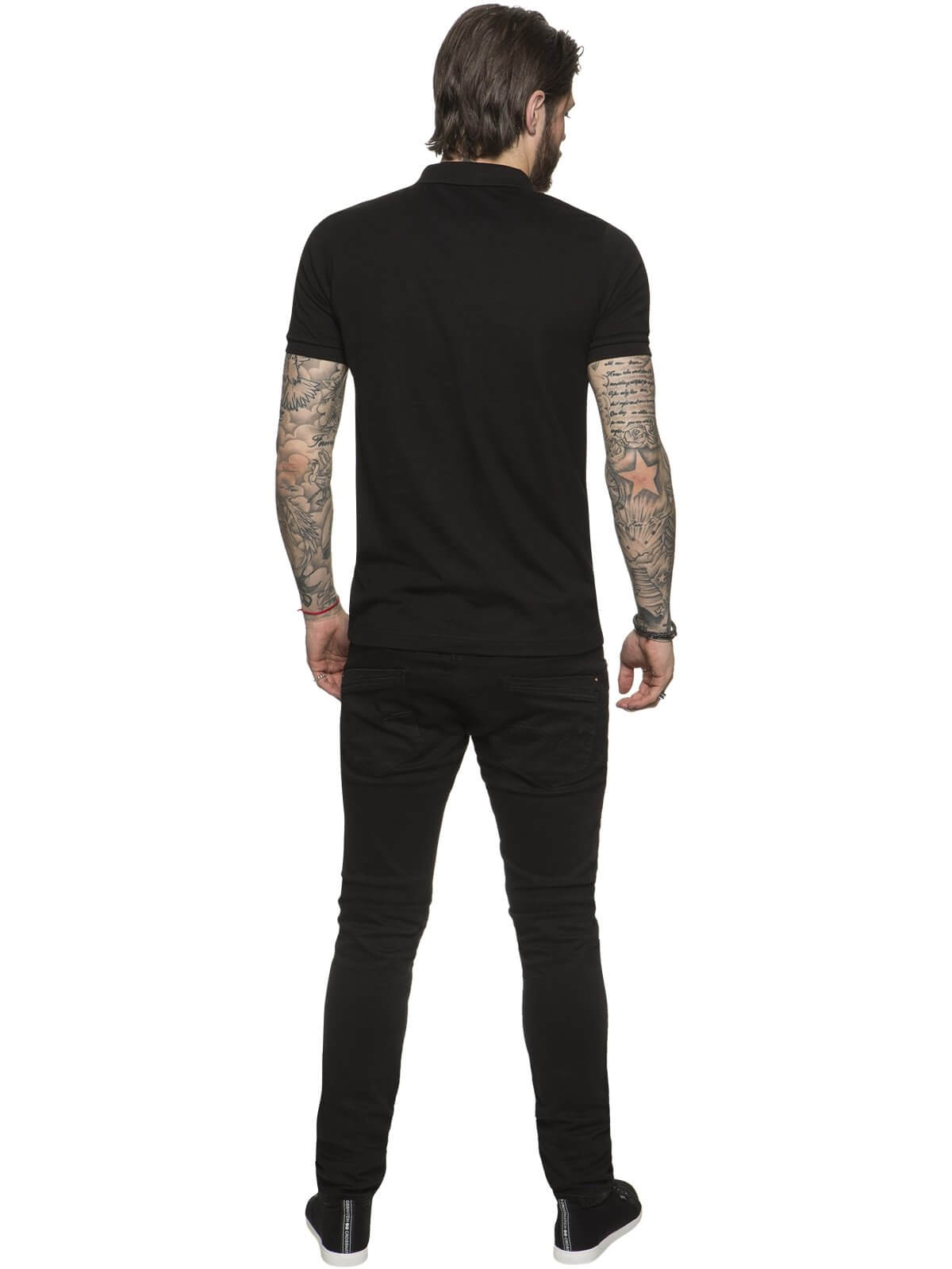 ETO Clearance | Designer Mens Black Plan Polo