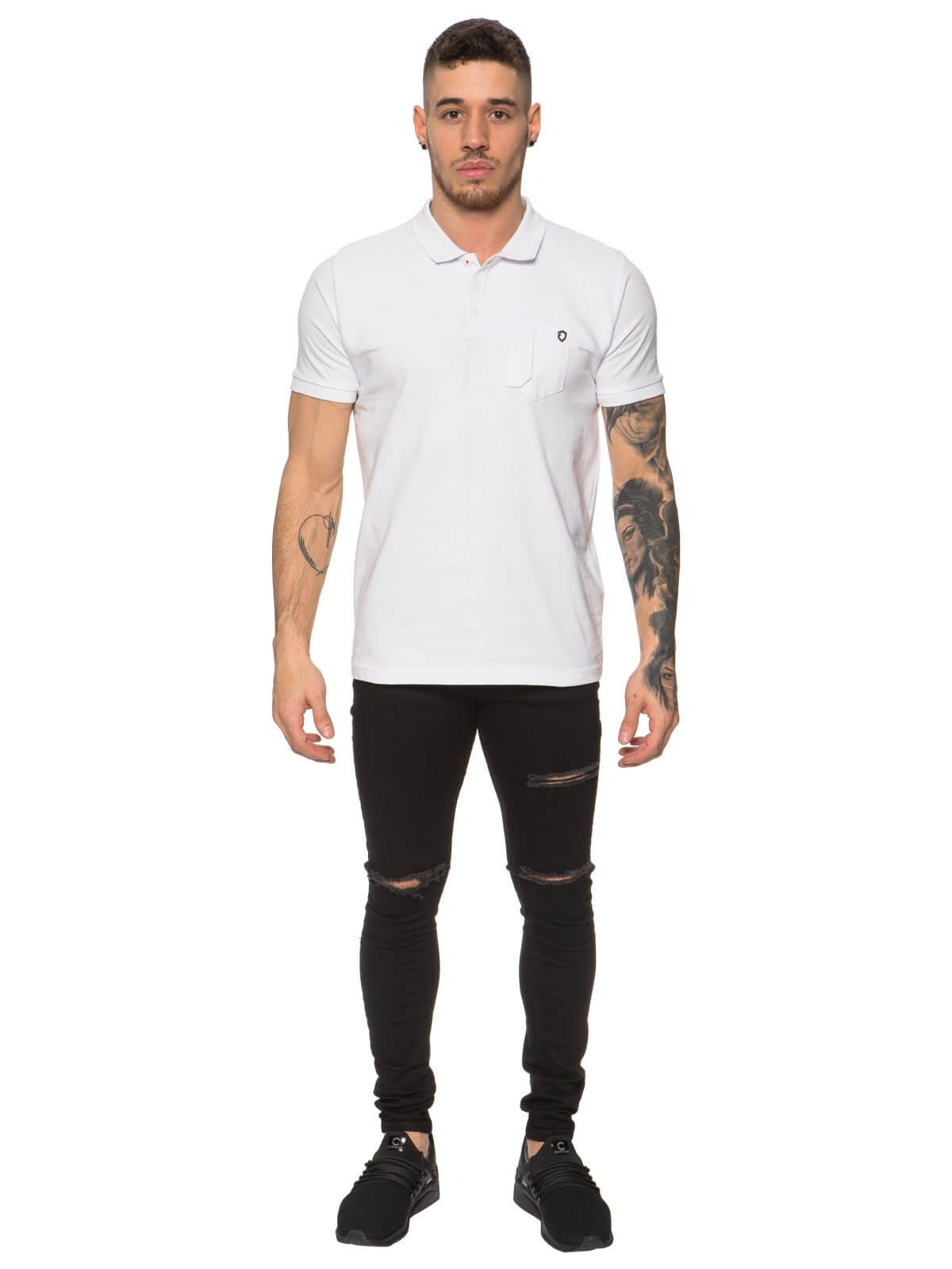 ETO Clearance | Designer Mens White Plan Polo