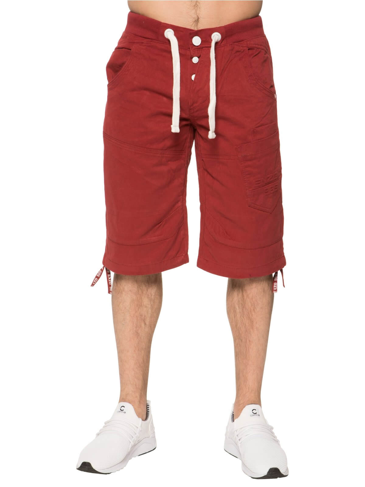 Clearance | Mens Red Summer Shorts | Enzo Designer Menswear