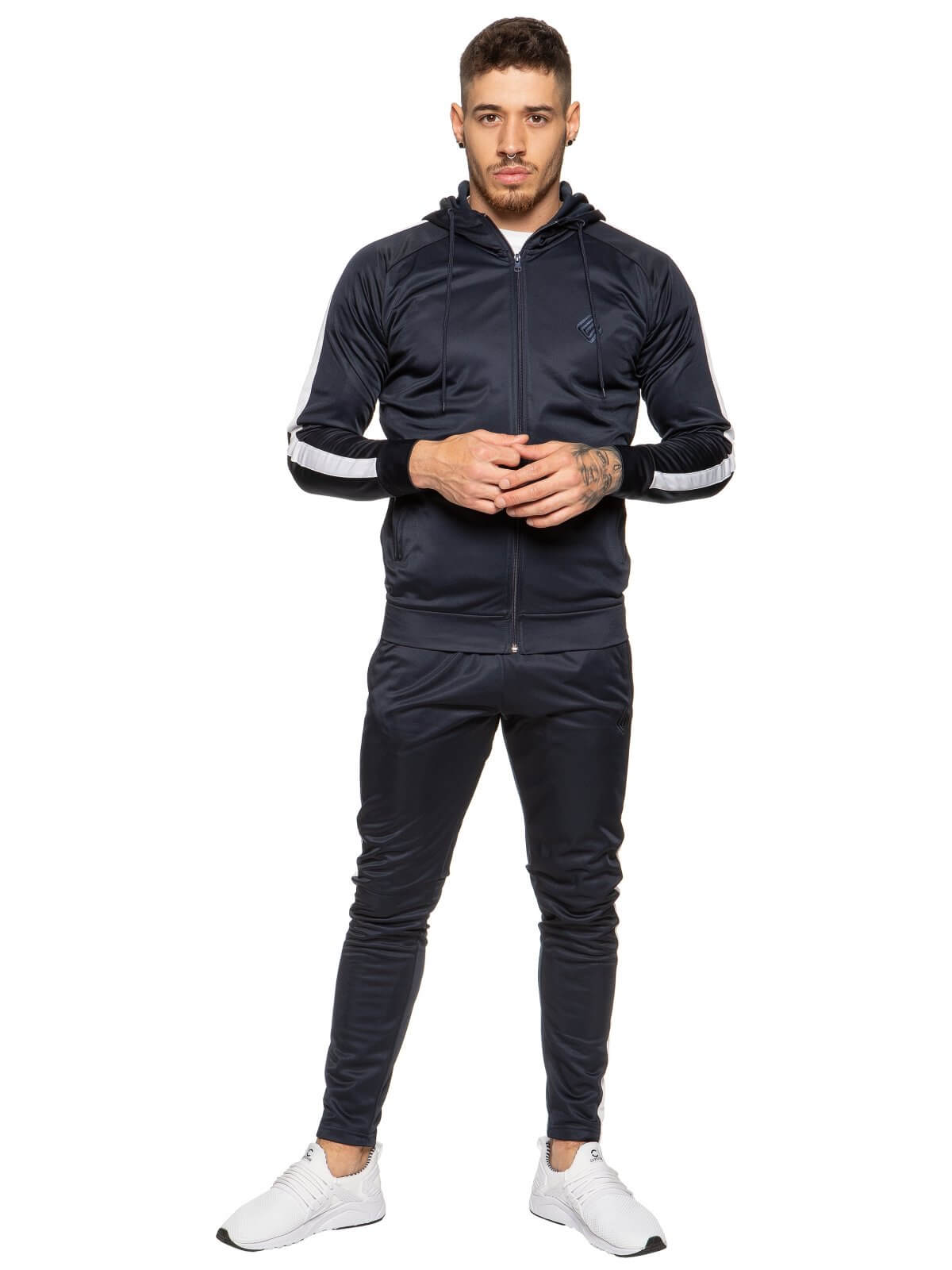 Mens Zip Through Full Navy Tracksuit Set | Enzo Designer Menswear