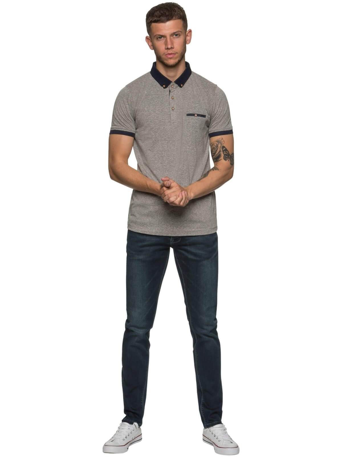 ETO Clearance | Designer Mens Grey Polo T-Shirt